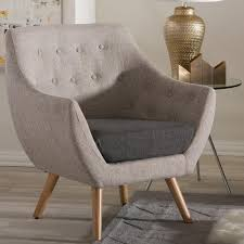 International Furniture Kitchener Simpli Home Kitchener Grey Velour Tufted Accent Chair Axckits73o5g