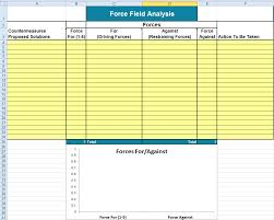 Forcefield Size Chart Force Field Analysis Template In Excel
