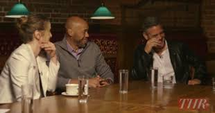 that preachy sunday morning lecture over please to enjoy the writer s roundtable the panel includes george clooney and grant heslov the monuments