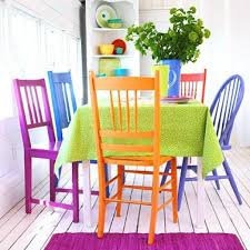 brightly painted furniture. Colorful Dining Room Tables Mix And Match Furniture 40 Ideas Decoholic Best Brightly Painted I
