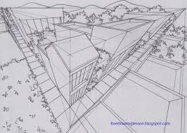 perspective drawings of buildings. Draw Buildings In Three Point Perspective Drawings Of H