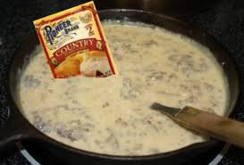 pioneer gravy. pioneer country sausage gravy package