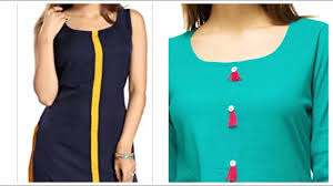 Plain Kurti Design For Stitching Tips To Convert Plain Kurti Into Designer Wear Plain Kurti Designs With Button Online Purchase Kurti