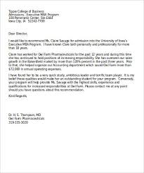Layout Of A Recommendation Letter Sample Business Recommendation Letter 7 Examples In Word Pdf
