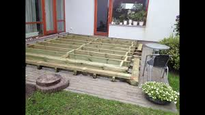 how to build a ground level deck frame part 1