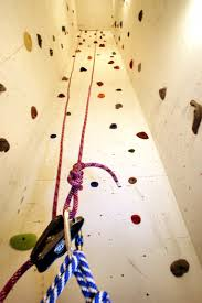 grips with a climbing wall