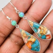 Fashion Women Turquoise 925 Sterling Silver Earrings ... - Vova
