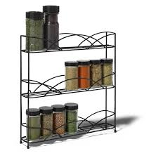 Tier Spice Rack Spectrum Diversified Countertop And Wall Mount 3 Tier Spice Rack