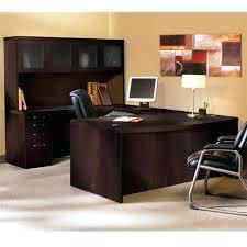 u shaped desk office depot. Executive U Shaped Desk W Glass Door Hutch Image 1 L Top Office . Depot D