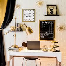 stylish home office. Classy Black And Elegant Gold Pair Together For A Stylish Home Office. Office S
