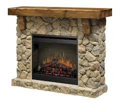 dimplex fieldstone pine and stone look electric fireplace mantel
