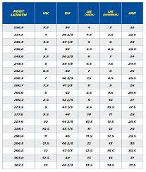 Footwear Size Chart Footwear Size Chart Jv Distribution