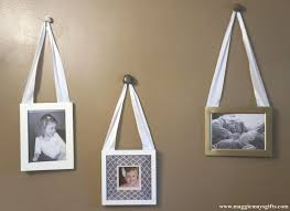 hanging picture frames with ribbon vintage 3 piece photo frame live laugh love