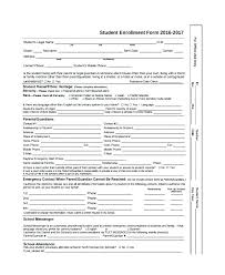 student application template enrollment application template templates college enrolment form