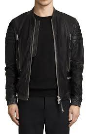 all saints sanderson er leather jacket size small 5052654498417