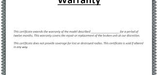 Business Roofing Warranty Certificate Template Free C