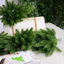 details about diy artificial flower fake plants pine tree durable branches xmas home decor