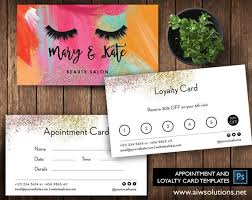 Membership Cards Templates Beauteous Nail Salon Loyalty Cards Salon Loyalty Business Card Spa Etsy