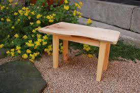 making mini table using korean pine tree