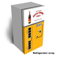 Vending Machine Wraps Mesmerizing Rc Cola Vending Machine Refrigerator Wrap Rm Wraps