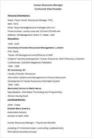 Human Resources Manager Cv Example Hiring Manager Resume The Hr