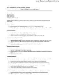 Sample Resumes For Sales Furniture Sales Resumes