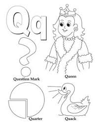 Small Picture Q Coloring Page Free Download