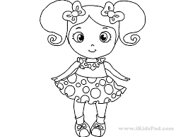Small Picture Little Girl Coloring Pages Coloring Book of Coloring Page