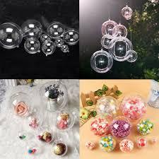 20pcs 100mm clear transpa ball plastic baubles tree ornaments diy 4 4 of 12