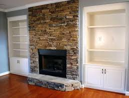 stacked stone fireplace diy stone veneer over brick fireplace