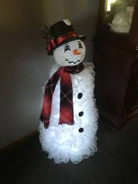 Holiday Time Light Up Led Fluffy Snowman Instructions Tomato Cage Snowman With Paper Lantern Head That I Made