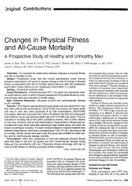 pdf changes in physical fitness and all cause mortalitya prospective study of healthy and unhealthy men