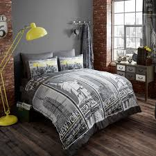 new york city skyline bedding uber nyc duvet set