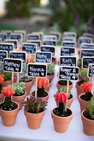 Cactus Bowl Seating Chart La Fete Cactus Wedding Wedding Decorations Wedding