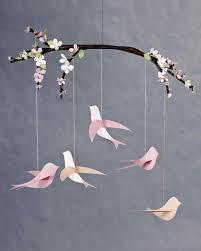 Paper Flower Mobiles Bird Mobile Video Martha Stewart