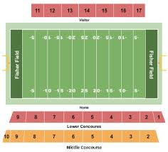 Fisher Field Tickets And Fisher Field Seating Chart Buy