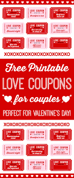 Creative Coupons For Boyfriend Free Printable Love Coupons For Couples On Valentines Day