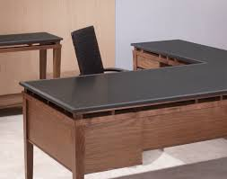 l shaped desk wood ideas
