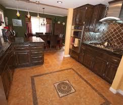 Warm Kitchen Flooring Options Impressive Nice Design Floor Material Design With Woodne Cabinet