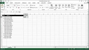 Ms Excel How To Sort A Name List By Same Names In Ms Excel Using Excel