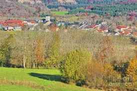 Small French village in Rhone-Alpes in autumn Photograph by Gregory DUBUS
