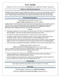 Child Care Resume Sample Monster Amazing Child Care Provider Resume