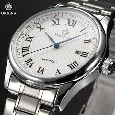 aliexpress com buy fantastic elegant date display mens quartz fantastic elegant date display mens quartz watch orkina masterpiece steel chain men wristwatch gift box