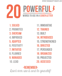 20 Powerful Words to Use in a Resume NOW- just go find your job at