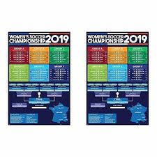 2019 2 Two Fifa Womens World Cup Bracket Wall Chart Match