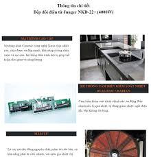 Bếp đôi điện từ Junger NKD-22+ - Công suất 4000W - mặt kính Ceramic Bảo  hành 2 năm chính hãng MADE IN THAILAND