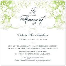 Memorial Service Invitation Sample