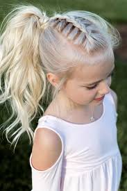 Little Girl Hairstyle French Braid Pony