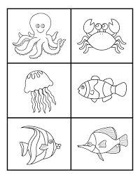 Small Picture Ocean and Sea Animals Coloring Pages Free Printable Easy peasy