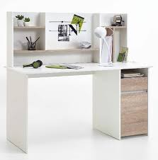 alto white and oak desk with hutch whole and dropship amos mann furniture